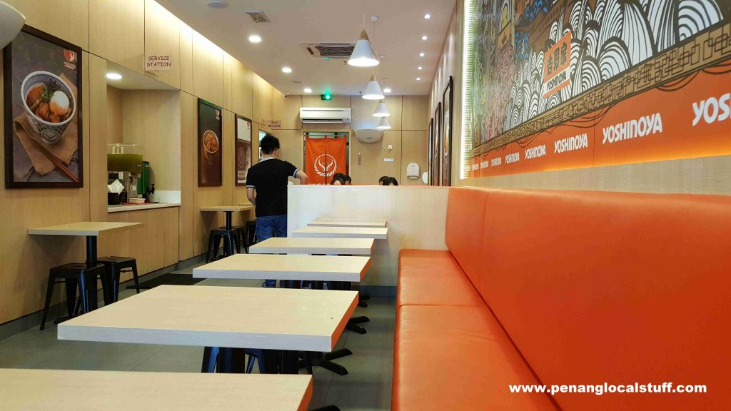 Yoshinoya E-Gate Seating Area