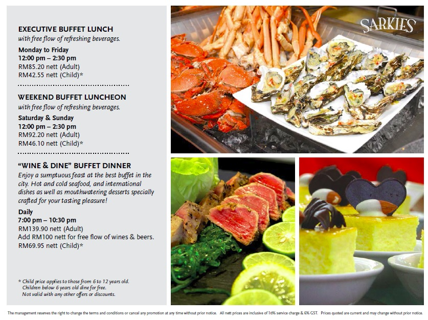 E&O Sarkies Buffet Prices