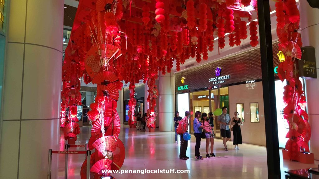 CNY Red Lanterns And Fans Decoration