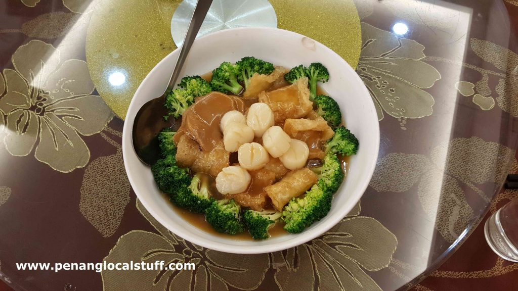 Starview Restaurant Broccoli And Scallop Dish