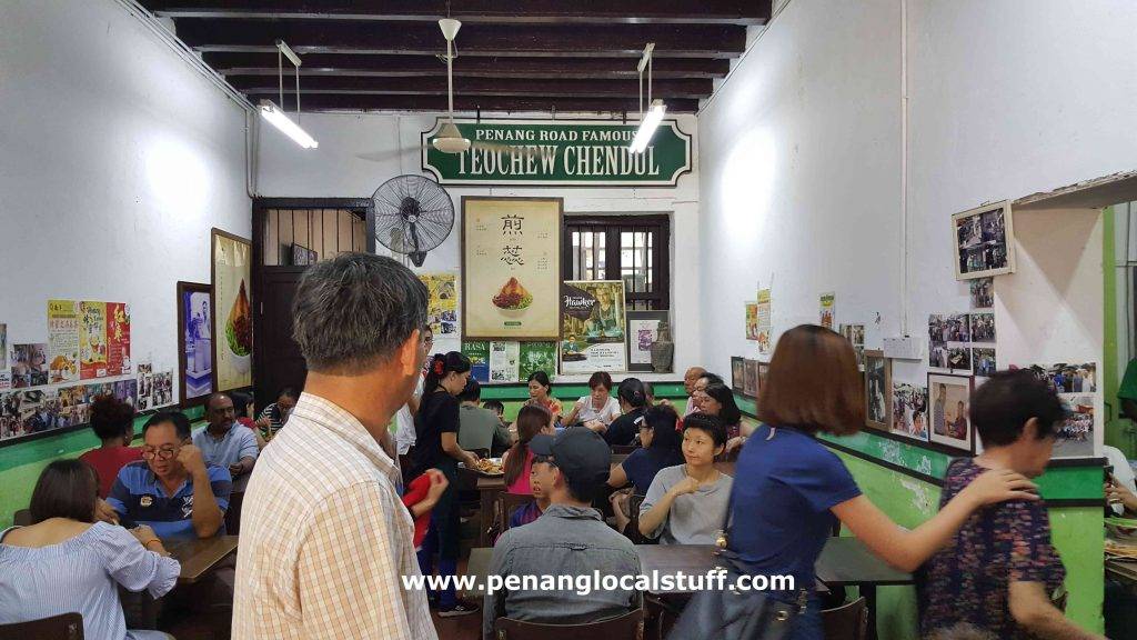 Penang Road Famous Chendul Seating Area