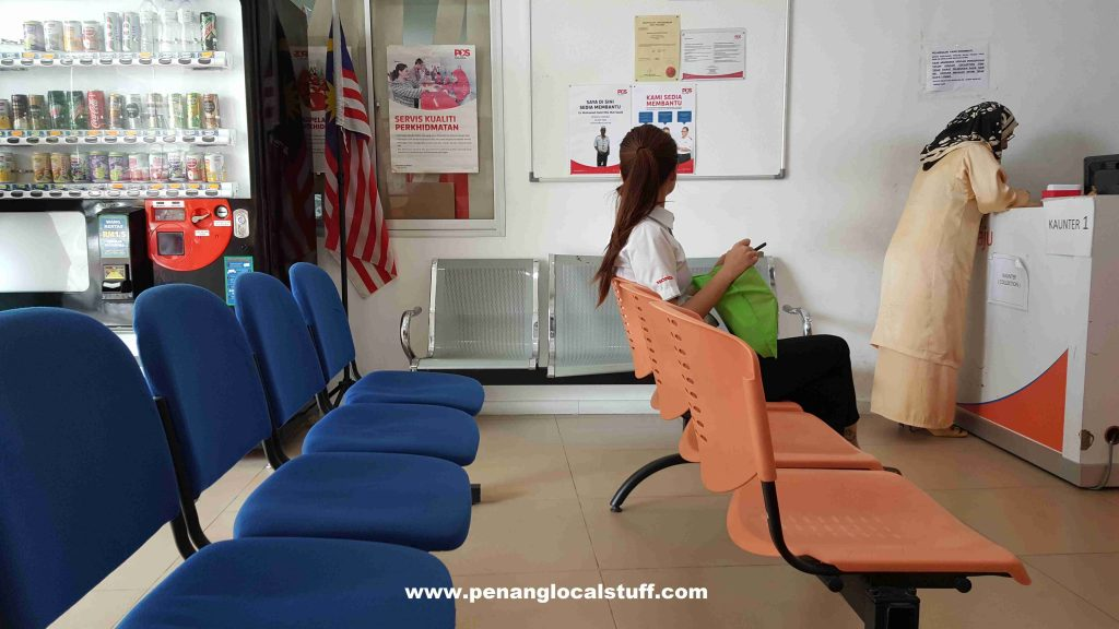 Pos Laju Lebuh Victoria Waiting Area