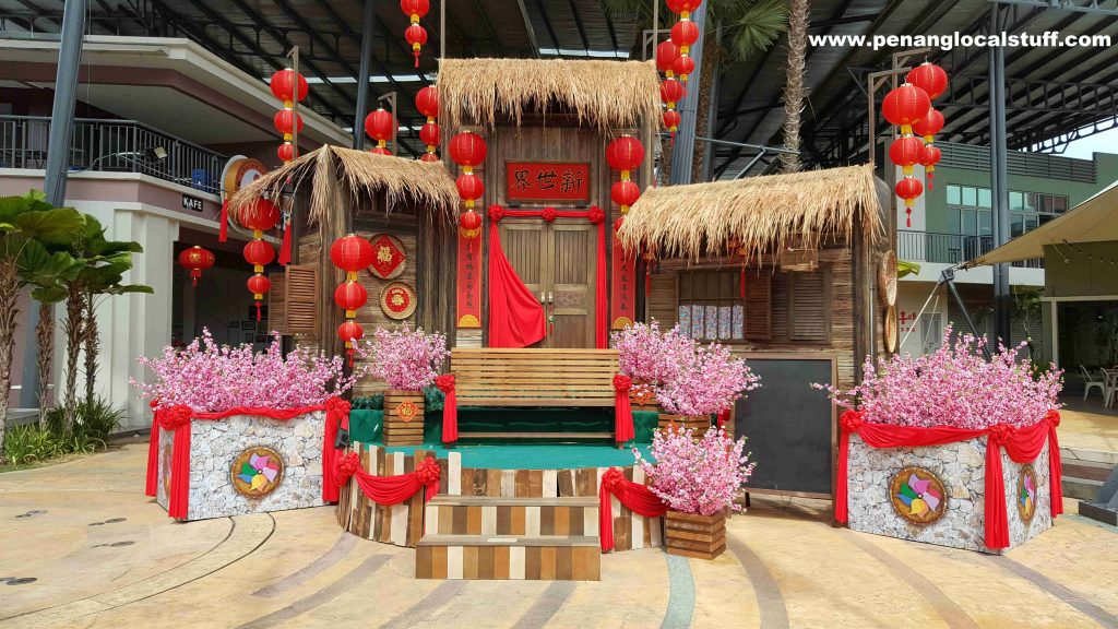 Traditional Chinese House Decoration At New World Park Jalan Burma Entrance