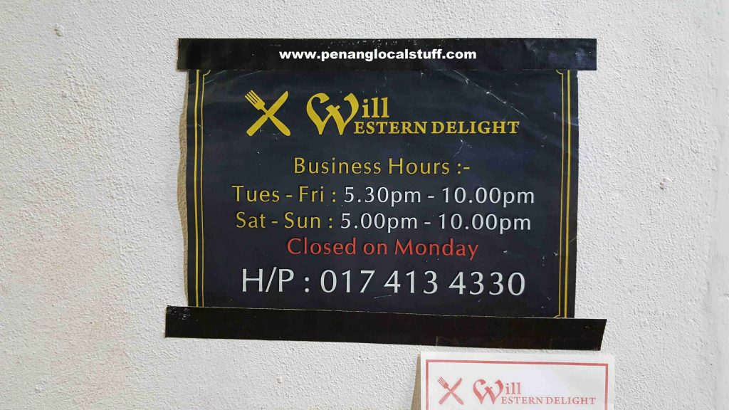 Will Western Delight Business Hours