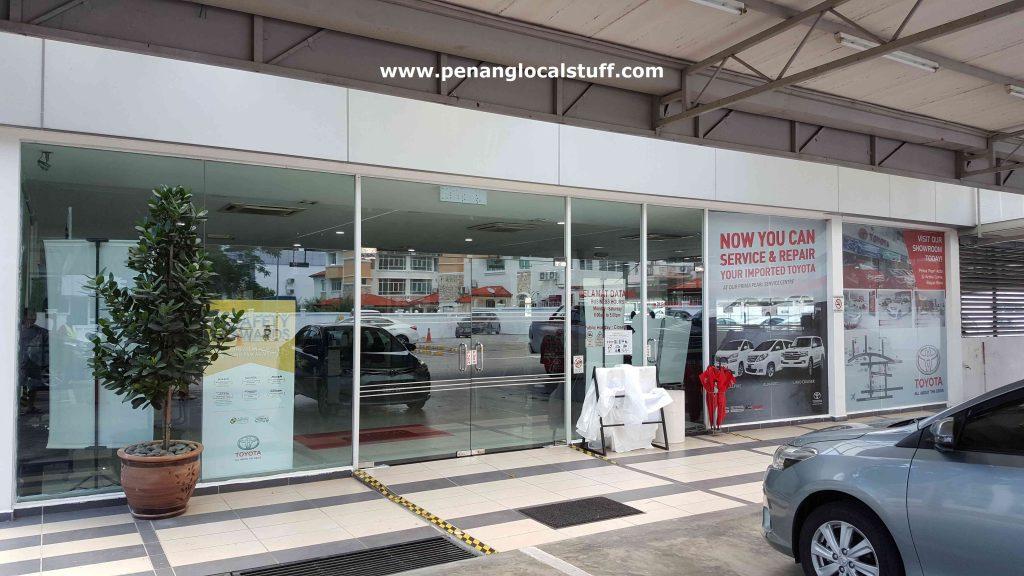 Toyota Service Centre Sungai Ara Entrance