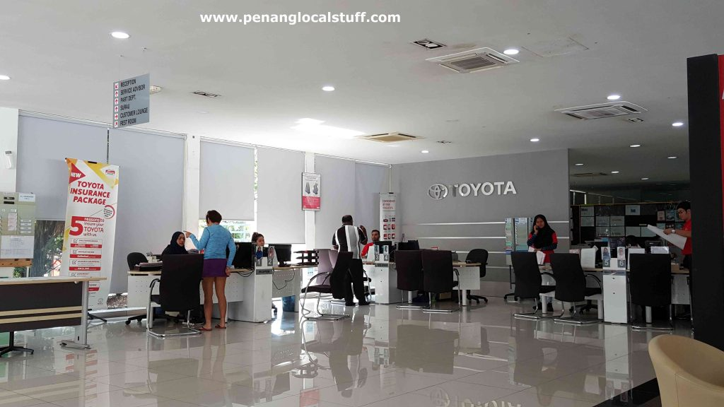 Toyota Sungai Ara Reception Counters