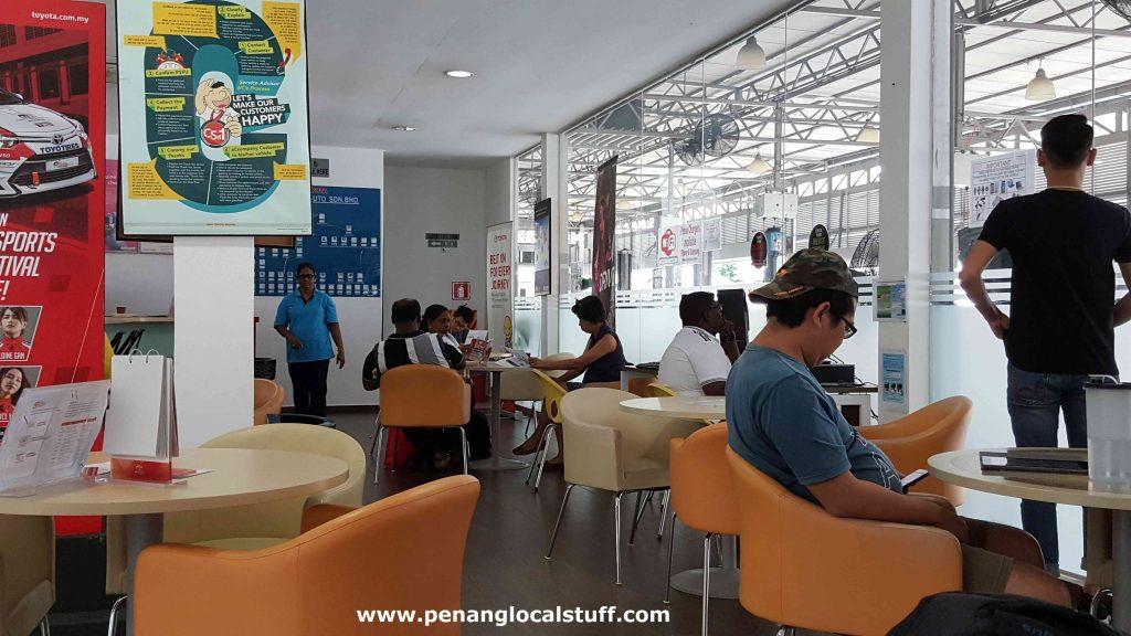 Toyota Sungai Ara Waiting Area