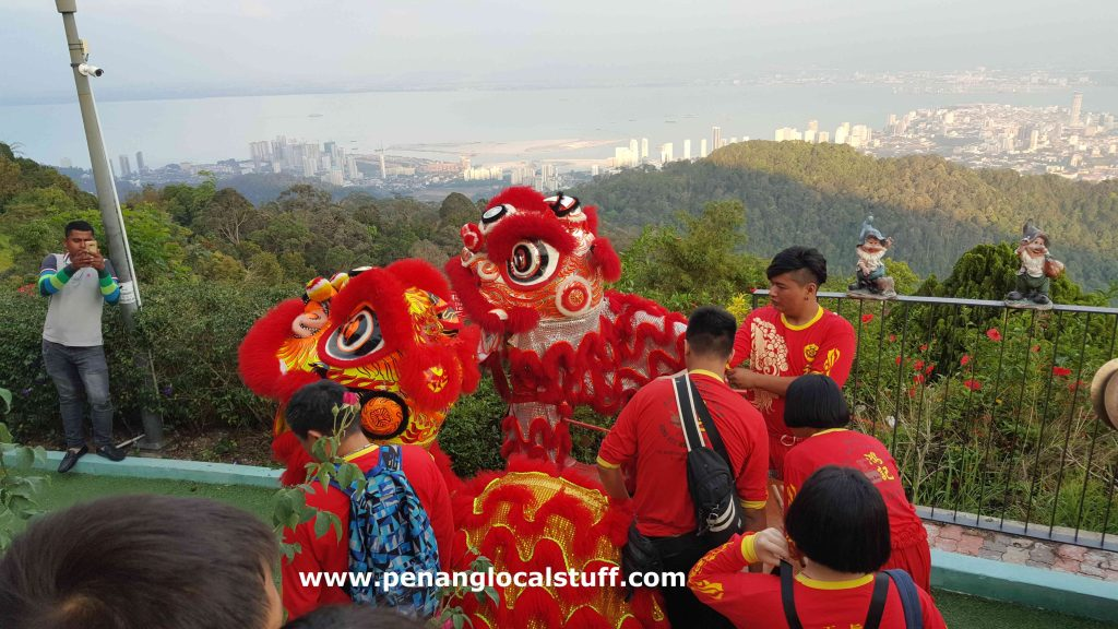 Lion Dance Performance At Penang Hill