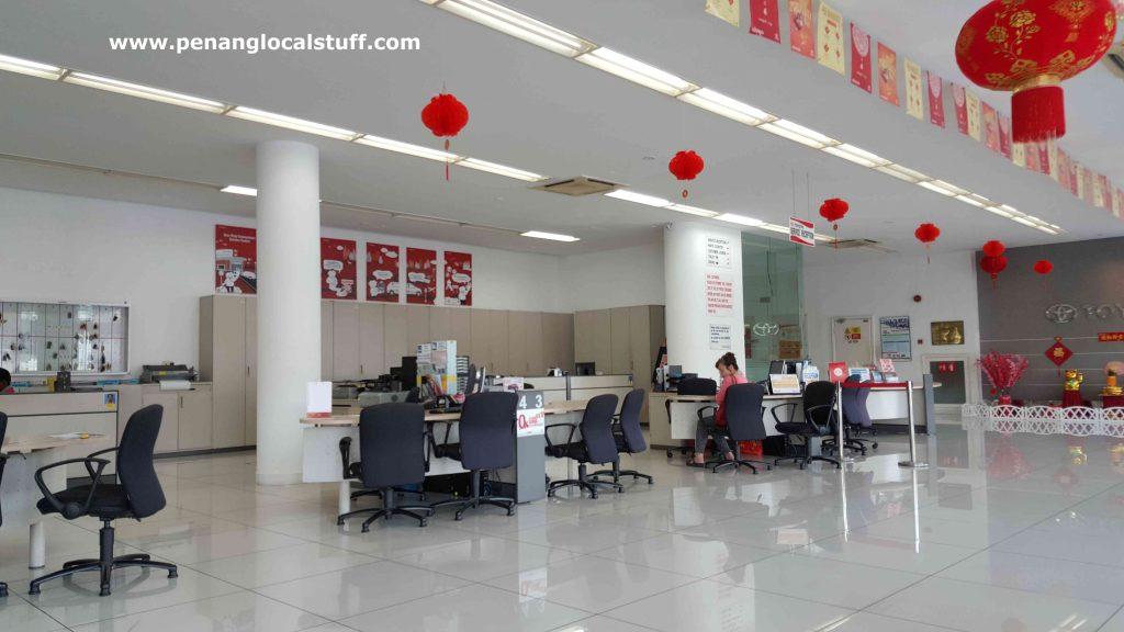 Toyota Sungai Pinang Reception Area