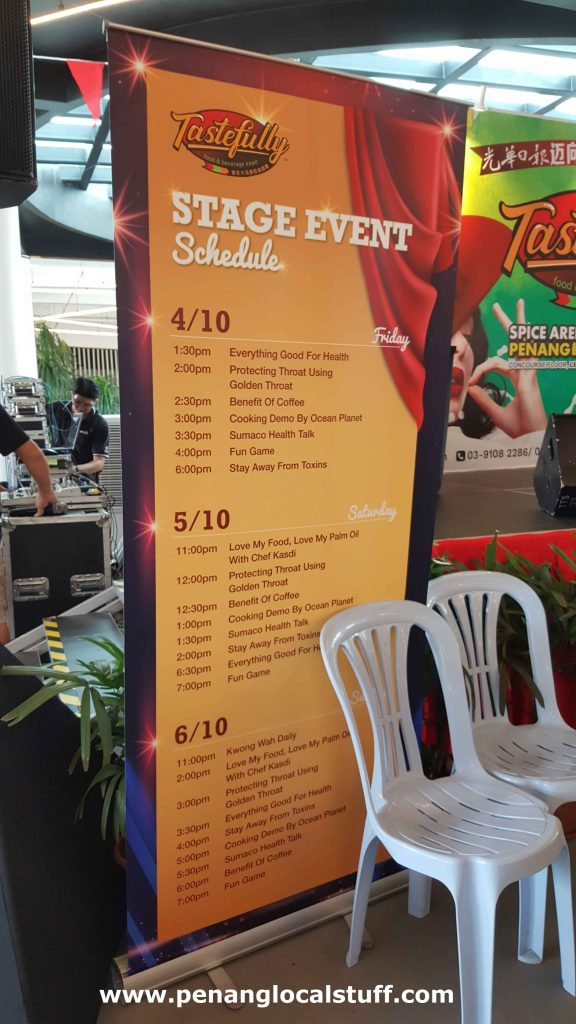 Tastefully Food And Beverage Expo Stage Event Schedule