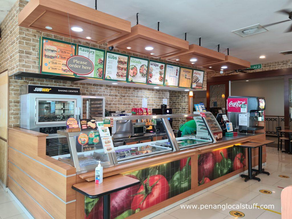 Inside Subway Straits Quay